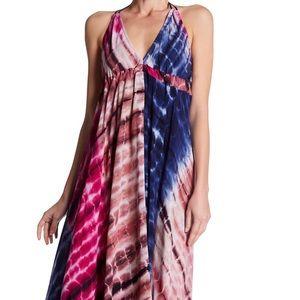 Love Stitch Dress Tie Dye Handkerchief Maxi